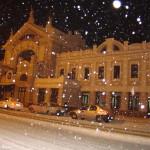 Вокзал Черновцов. Фото зимой