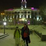 Центральная площадь в Черновцах. Фото зимой